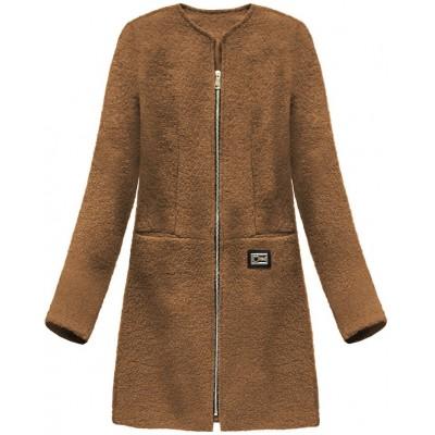 Dámsky vlnený kabát hnedý (22643) 4019f866000