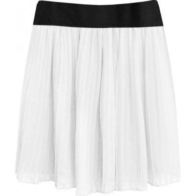 Dámska plisovaná sukňa biela (9228/3)