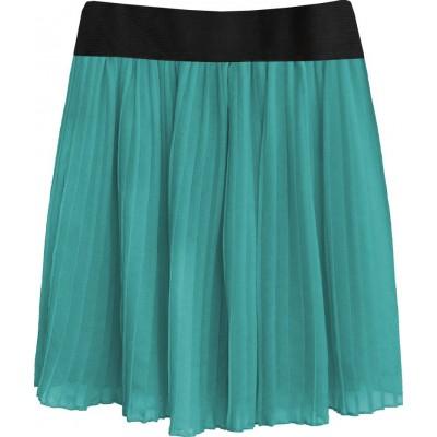 Dámska plisovaná sukňa morská (9228/3)