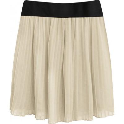 Dámska plisovaná sukňa béžová (9228/3)