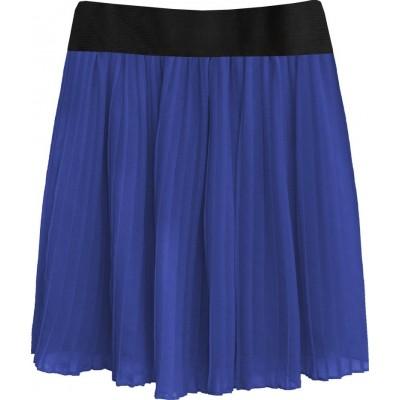 Dámska plisovaná sukňa modrá (9228/3)