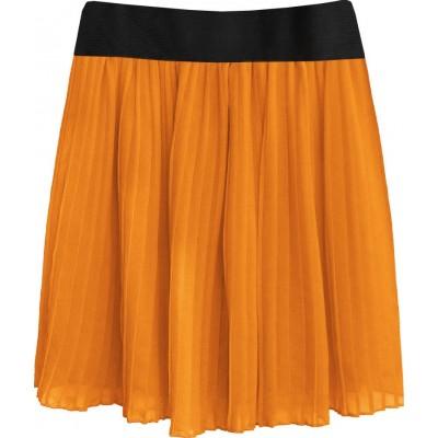 Dámska plisovaná sukňa pomarančová 2 (9228/3)