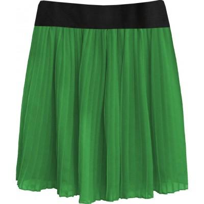 Dámska plisovaná sukňa zelená (9228/3)