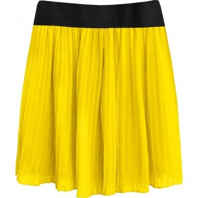Dámska plisovaná sukňa žltá (9228/3)
