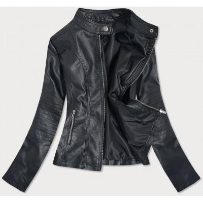 Dámska koženková bunda  čierna (B0110)