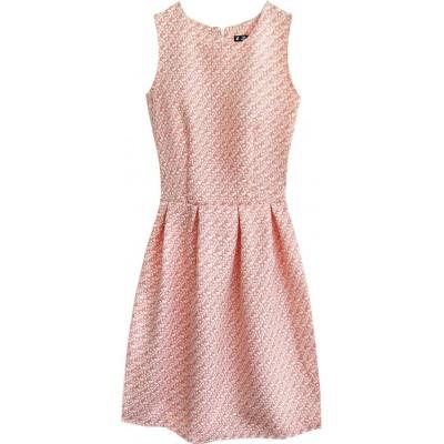 Dámske šaty so vzorom ružové (3124)