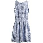 Dámske šaty so vzorom modré (3124)