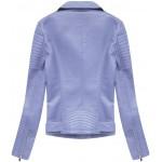 Dámska koženková bunda  fialová (5378)