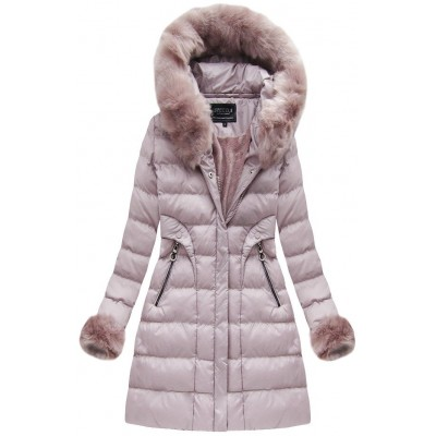 577a2766b28e3 Dámska zimná bunda staroružová (W765-1)