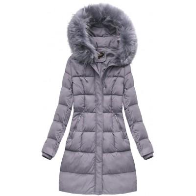 Dámska zimná bunda  fialová (7757BIG)