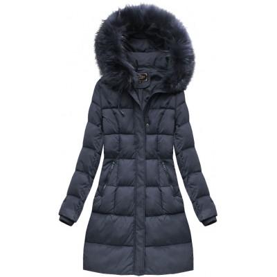 Dámska zimná bunda modrá (7757BIG)