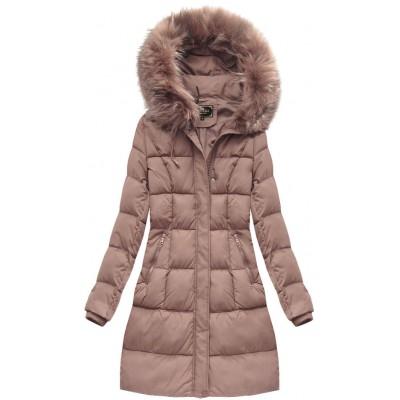 Dámska zimná bunda staroružová (7757BIG)