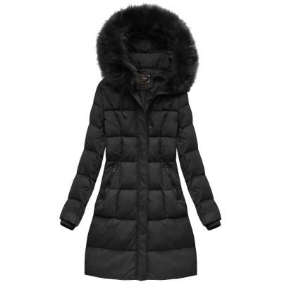Dámska zimná bunda čierna  (7757BIG)