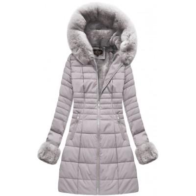 Dámska zimná bunda šedá (5521)