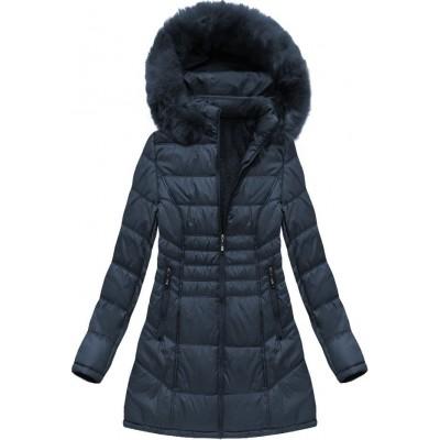 Dámska zimná bunda modrá (B1023-30)