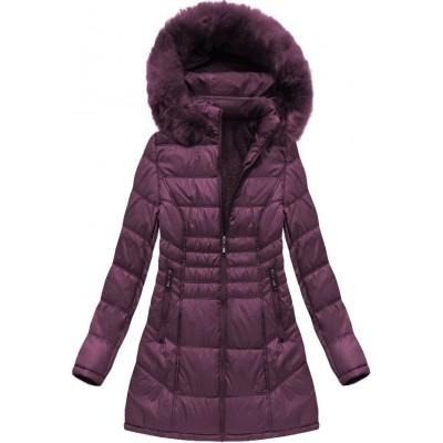 Dámska zimná bunda fialová (B1023-30)