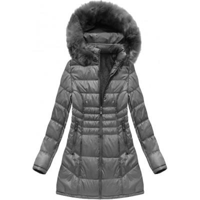 Dámska zimná bunda tmavošedá (B1023-30)