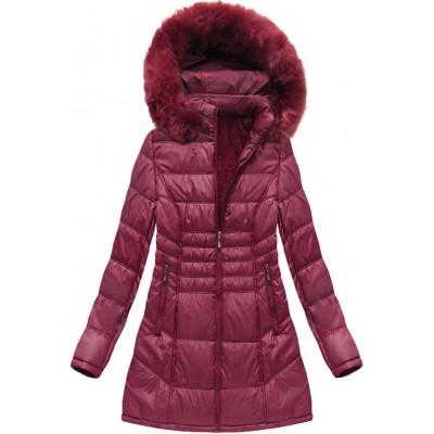 Dámska zimná bunda bordová (B1023-30)