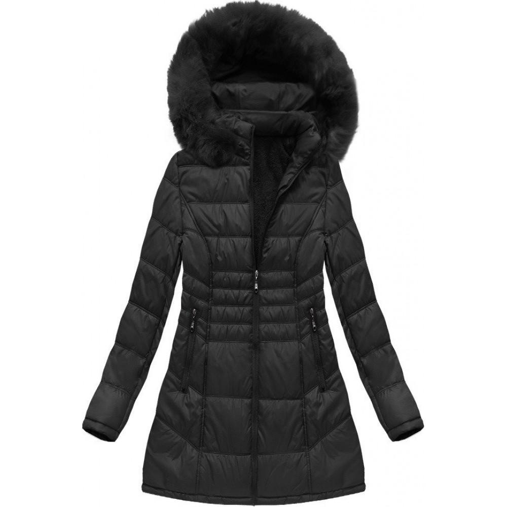 02bb0998ac5f Dámska zimná bunda čierna (B1023-30)