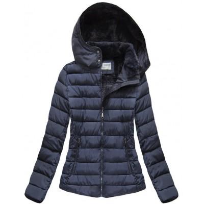 Dámska zimná bunda modrá (B3591)
