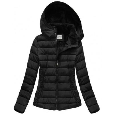 Dámska zimná bunda čierna (B3591)
