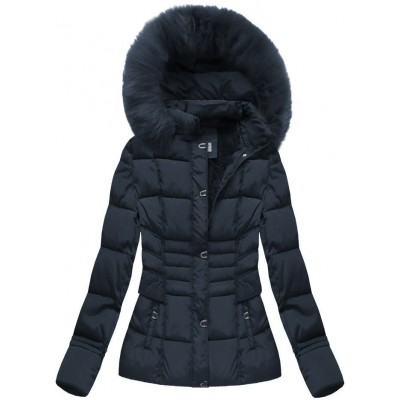 Dámska zimná bunda modrá (B3593-30)