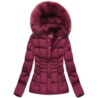 Dámska zimná bunda bordová (B3593-30)