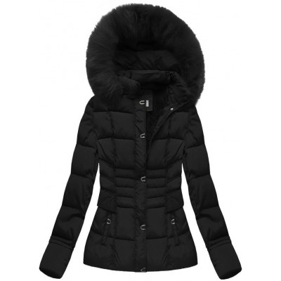 Dámska zimná bunda čierna  (B3593-30)