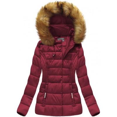 Dámska zimná bunda bordová (B1032-30)