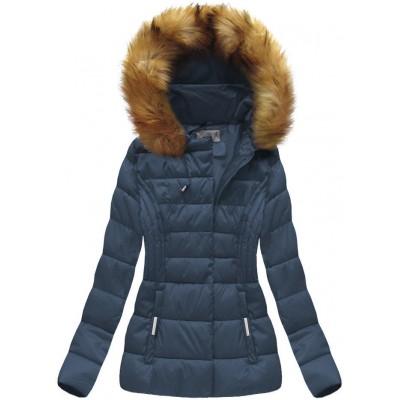 Dámska zimná bunda modrá (B1032-30)