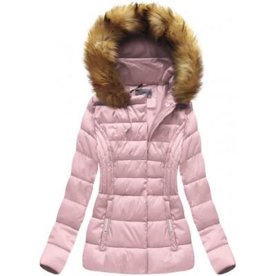 Dámska zimná bunda ružová  (B1032-30)