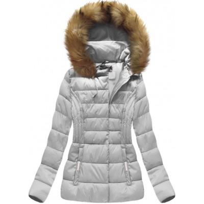 Dámska zimná bunda šedá (B1032-30)