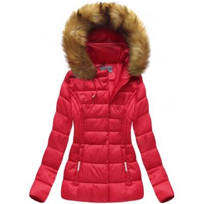 Dámska zimná bunda červená (B1032-30)