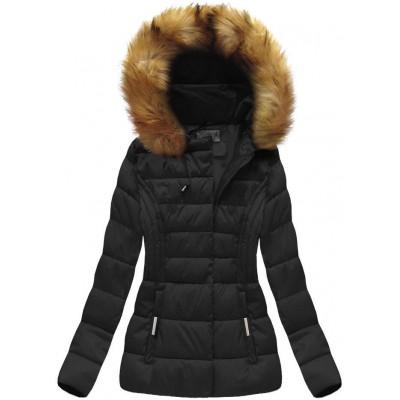 Dámska zimná bunda čierna (B1032-30)