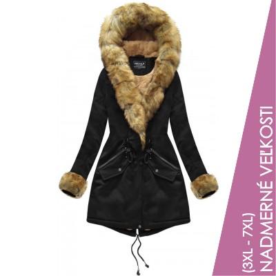 Dámska zimná bunda parka čierna  (XW801BIGX)