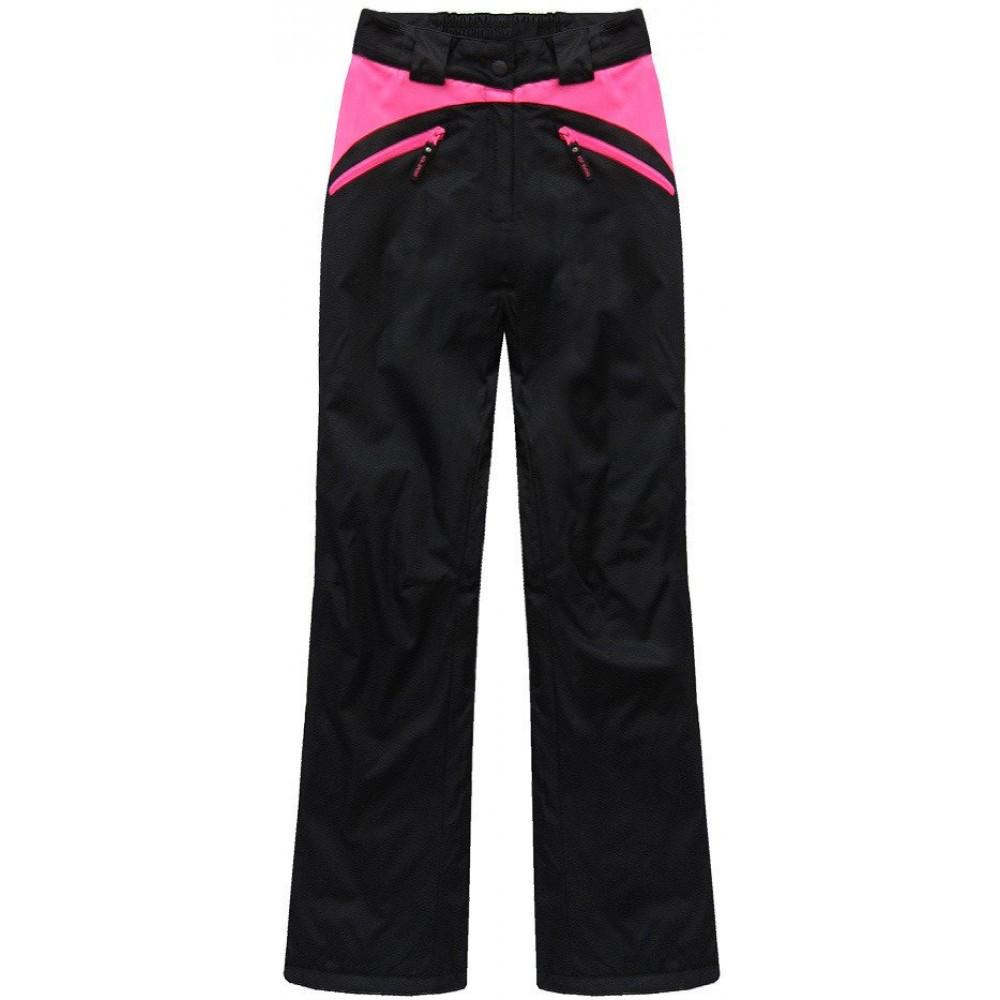 e30405abc658 Dámska lyžiarske snowboardové nohavice čierno-ružové (QS189)