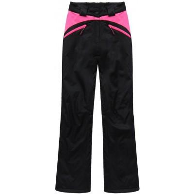 Dámska lyžiarske/snowboardové nohavice čierno-ružové (QS189)