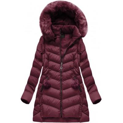 Dámska zimná bunda bordová  (W761)