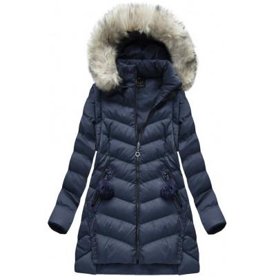 Dámska zimná bunda tmavomodrá (W761)