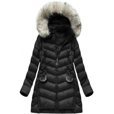Dámska zimná bunda čierna (W761)