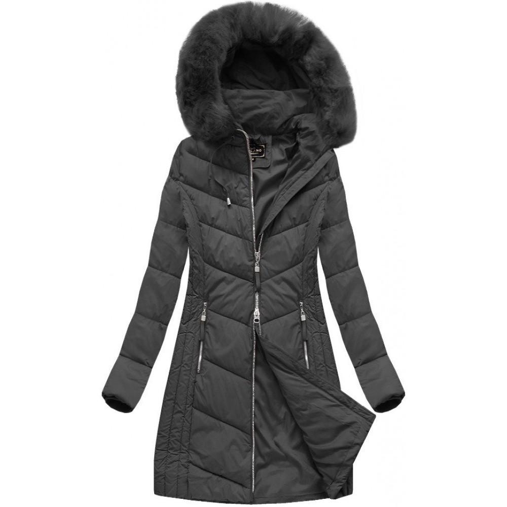 0ac5df2b83fd Dlhá dámska zimná bunda čierna (7689)