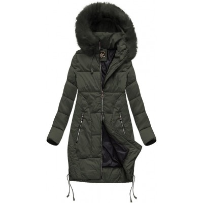 Dámska zimná bunda s kapucňou MODA690 khaki