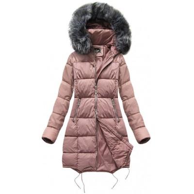 Dámska zimná bunda MODA705BIG staroružová