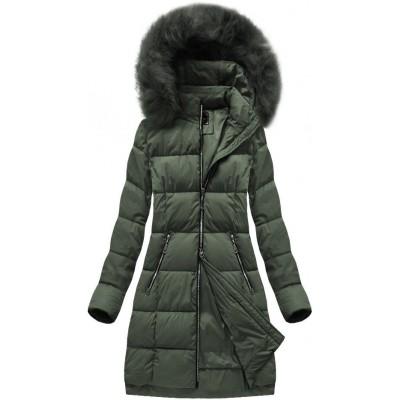 Dámska zimná bunda MODA702 khaki (7702)