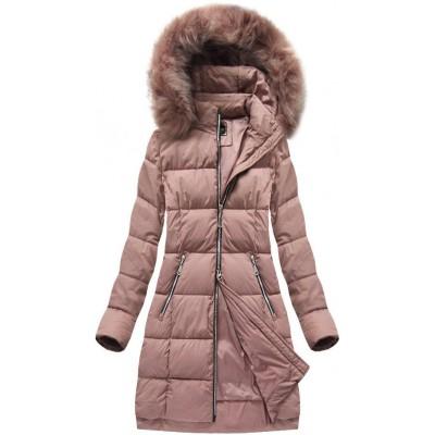 Dámska zimná bunda MODA702 ružová (7702)