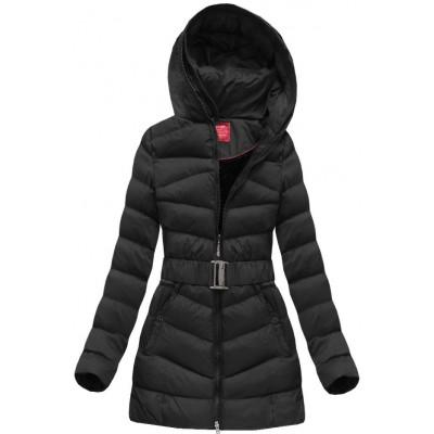 Prešívaná dámska zimná bunda čierna (GS278W)