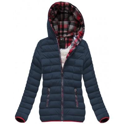 Prešívaná dámska zimná bunda modrá (AH-CX199W)