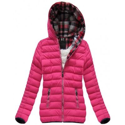 Prešívaná dámska zimná bunda cyklamenová (AH-CX199W)