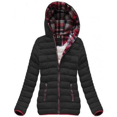 Prešívaná dámska zimná bunda čierna (AH-CX199W)