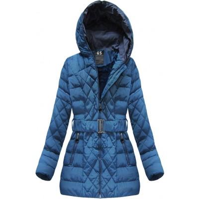 Prešívaná dámska zimná bunda modrá (23BS-B)